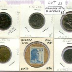 Monedas República: 6 MONEDAS DE LA SEGUNDA REPUBLICA ( LOT21 ). Lote 294497193