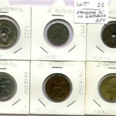 Monedas República: 6 MONEDAS DE LA SEGUNDA REPUBLICA ( LOT23 ). Lote 294497318