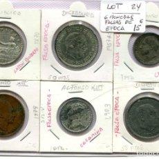 Monedas República: 6 MONEDAS FALSAS DE EPOCA ( LOT24 ). Lote 294497418