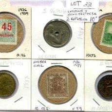 Monedas República: CARTONES Y MONEDAS DE LA II REPUBLICA ( LOT33 ). Lote 294497993
