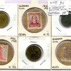 Monedas República: CARTONES Y MONEDAS DE LA II REPUBLICA ( LOT34 ). Lote 294498053