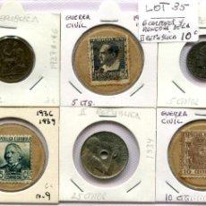 Monedas República: CARTONES Y MONEDAS DE LA II REPUBLICA ( LOT35 ). Lote 294498078