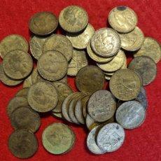 Monedas República: LOTE DE 50 MONEDAS DE 1 PESETA DE LA REPUBLICA 1937 UVAS MBC ORIGINALES. Lote 295307198