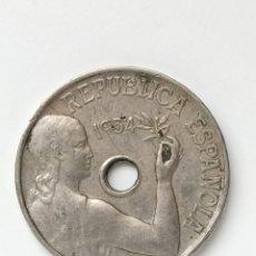 Monedas República: 25 CÉNTIMOS DE LA REPÚBLICA, 1934. Lote 295523718
