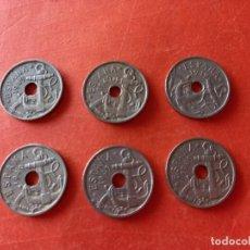 Monedas República: 6 MONEDAS 50 CÉNTIMOS 1949 DIFERENTES ESTRELLAS BUEN ESTADO. Lote 296577488