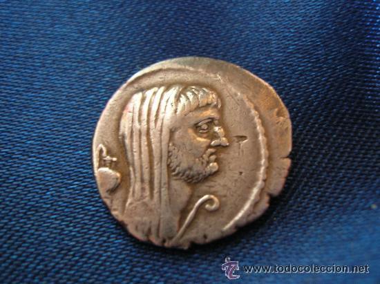 DENARIO MARCO ANTONIO. FAMILIA SEPULLIA. AÑO 44 A.J.C. (Numismática - Periodo Antiguo - Roma República)
