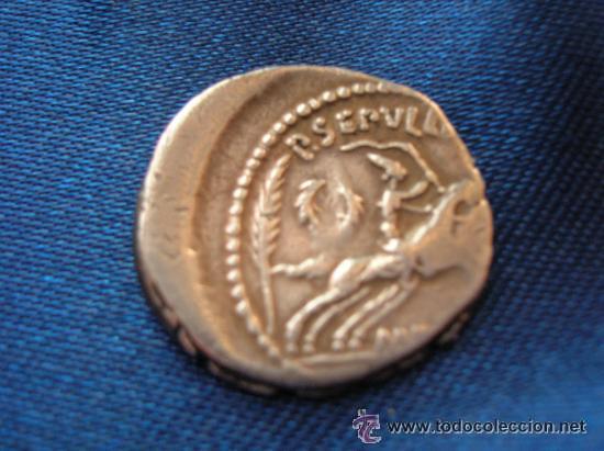 Monedas Roma República: DENARIO MARCO ANTONIO. FAMILIA SEPULLIA. AÑO 44 A.J.C. - Foto 2 - 32212997