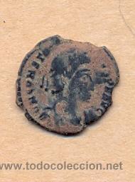 MONEDA 357 - MONEDA ROMANA - ROMAN COIN MEASURES 18 MM WEIGHT 1 GRMS MEDIDAS SOBRE 18 MM PESO SOB (Numismática - Periodo Antiguo - Roma República)