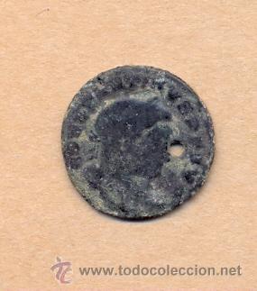 Monedas Roma República: MONEDA 373 - MONEDA ROMANA - ROMAN COIN MEASURES 22 MM WEIGHT 3 GRMS MEDIDAS SOBRE 22 MM PESO SOB - Foto 2 - 35624437