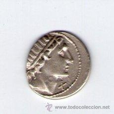 Monedas Roma República: GENS AQUILIA DENARIO CABEZA RADIADA DEL SOL X MN AQVIL ROMA 109 A DE C. MONEDA PLATA ROMANA. Lote 35902671