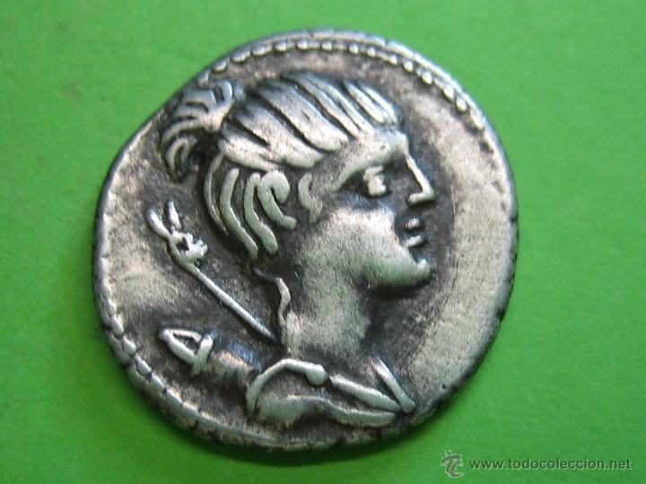 ROMAN COIN. DENARIO REPUBLICANO FAMILIA GENS POSTUMIUS (Numismática - Periodo Antiguo - Roma República)