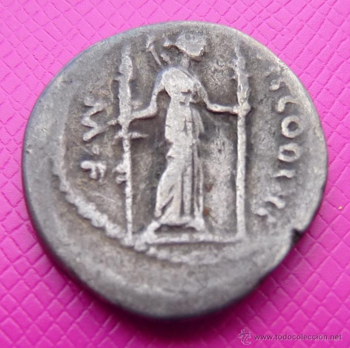 Monedas Roma República: BONITO DENARIO REPUBLICANO FAMILIA CLAUDIA. PLATA. CIRCA 42-41 A.C. VER DESCRIPCIÓN Y FOTO ADICIONAL - Foto 2 - 41134447
