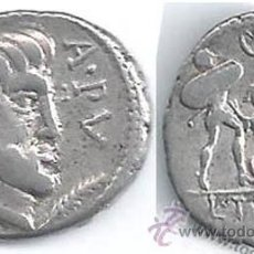Monedas Roma República: INTERESANTE Y BONITO DENARIO REPÚBLICANO EN PLATA DE L.TITVRIVS-L.F.SABINVS-ROMA 89 A.C.-EXCELENTE . Lote 43898590
