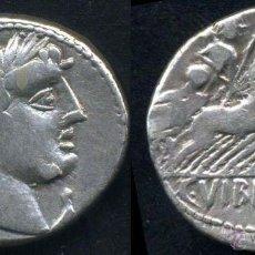Monedas Roma República: DENARIO REPUBLICANO DE PLATA - FAMILIA VIBIA (90 A.DE C.). Lote 44689591
