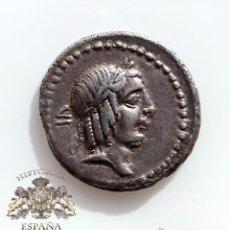 Monedas Roma República: DENARIO REPUBLICANO, FAMILIA CALPURNIA - VARIANTE VI Y DEBAJO DE LEYENDA - 90 A.C - E.B.C. Lote 52879733