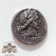 Monedas Roma República: DENARIO REPUBLICANO, FAMILIA FURIA-GARGILIA - CABEZA DE CERES - 61 A.C - E.B.C. Lote 52880030
