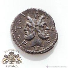 Monedas Roma República: DENARIO REPUBLICANO, FAMILIA FURIA - CABEZA DE JANO BIFRONTE - 110 A.C - E.B.C. Lote 52880218
