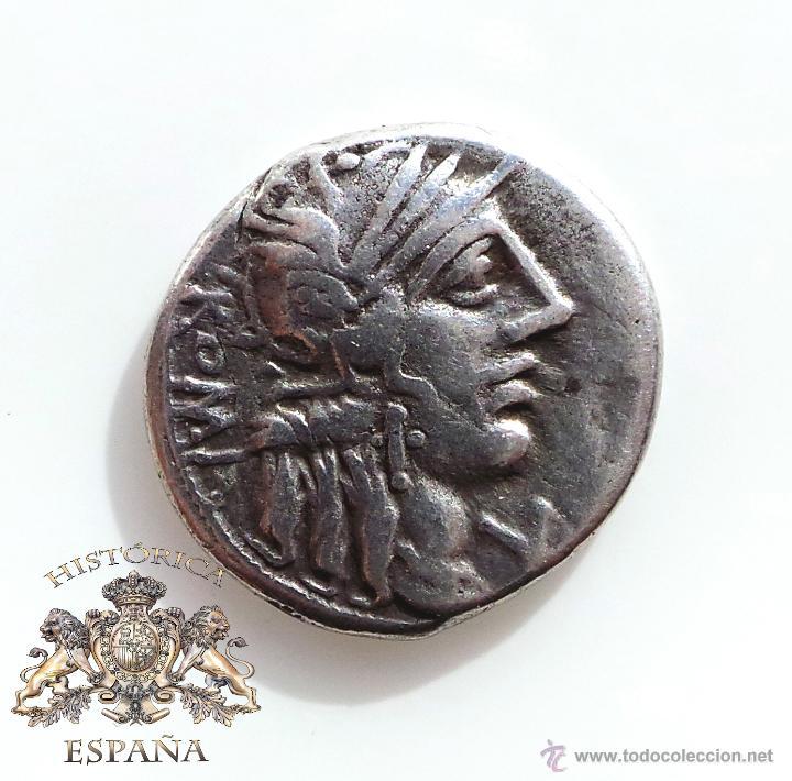 DENARIO REPUBLICANO, FAMILIA FANNIA - VICTORIA EN CUADRIGA A LA DERECHA - 137 A.C - E.B.C (Numismática - Periodo Antiguo - Roma República)