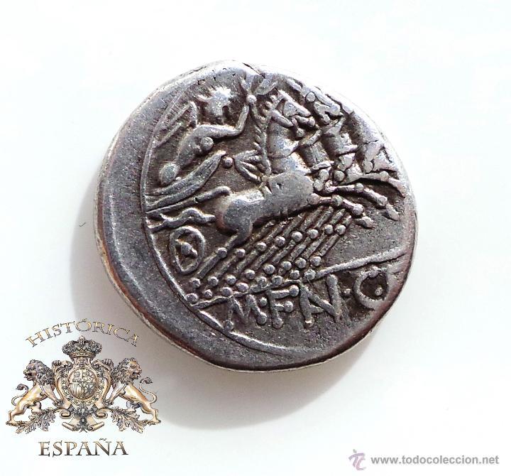 Monedas Roma República: DENARIO REPUBLICANO, FAMILIA FANNIA - VICTORIA EN CUADRIGA A LA DERECHA - 137 A.C - E.B.C - Foto 2 - 52881123