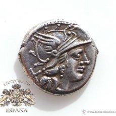 Monedas Roma República: DENARIO REPUBLICANO, FAMILIA RENIA - CABEZA DIADEMA - 135 A.C - E.B.C. Lote 52881365