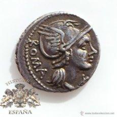 Monedas Roma República: DENARIO REPUBLICANO, FAMILIA FLAMINIA - VICTORIA EN BIGA A DERECHA - 106 A.C - E.B.C. Lote 52881487
