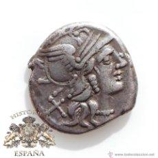 Monedas Roma República: DENARIO REPUBLICANO, FAMILIA RENIA - CABEZA DIADEMA - 135 A.C - E.B.C. Lote 52891901