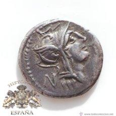 Monedas Roma República: DENARIO REPUBLICANO, JUNIA - VICTORIA EN BIGA - SILANVS L.F. ROMA - 90A.C- E.B.C. Lote 52924279