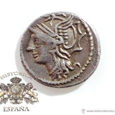 Monedas Roma República: DENARIO REPUBLICANO, FAMILIA APPULEIA - SATURNO EN CUADRIGA VARIANTE LETRA ENCIMA - 78 A.C- E.B.C. Lote 52941087