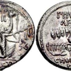 Monedas Roma República: PRECIOSO DENARIO ROMANO REPUBLICA AEMILIA M. AEMILIUS SCAURUS Y PUB. PLAUTIUS HYPSAEUS EX-CNG. Lote 57631383