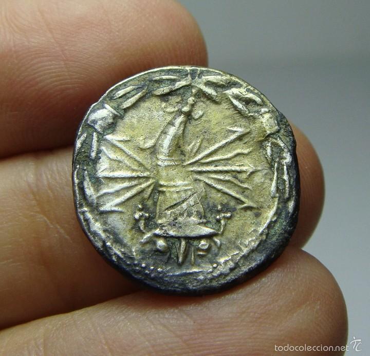 Monedas Roma República: Denario Republicano. Plata. Fabia. - Foto 2 - 58154154