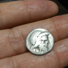 Monedas Roma República: DENARIO REPUBLICANO FAMILIA VIBIA. PAN. JUPITER. 3,4 GR. . Lote 82051255