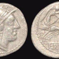 Monedas Roma República: 42--INTERESANTE Y BONITO DENARIO DE LA REPÚBLICA EN PLATA DE L.RVTILVS FLACCVS 77 A.C.-EXCELENTE. Lote 82968260