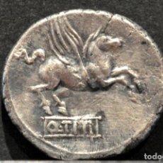 Monedas Roma República: EXCELENTE DENARIO REPÚBLICA ROMA 90 AC TITIA Q.TITIUS. Lote 87255392