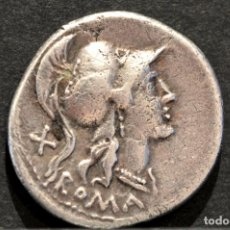 Monedas Roma República: DENARIO ROMA REPÚBLICA ANONIMO ITALIA CENTRAL 115-114 AC FORRADO RARO. Lote 90973540