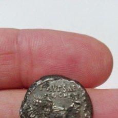 Monedas Roma República: DENARIO FORRADO DE LA FAMILIA AEMILIA (58 A.C.) FALSO FALSA DE ÉPOCA. CUADRIGA/CAMELLO REY ARETAS. Lote 91106460