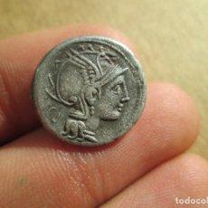 Monedas Roma República: A-384 / EXCELENTE DENARIO REPUBLICANO - T.MARCUQUM - MUY RARA - 3,65G . Lote 100440911
