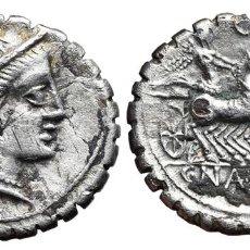 Monedas Roma República: *** MUY BONITO DENARIO REPUBLICANO, FAMILIA NAEVIA. 79 A.C. ROMA. CRAW-382/1A. FORRADO/PLATA ***. Lote 107842211