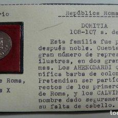 Monedas Roma República: DENARIO. DOMITIA 108 - 107 A.C. REPÚBLICA ROMANA.. Lote 115447251