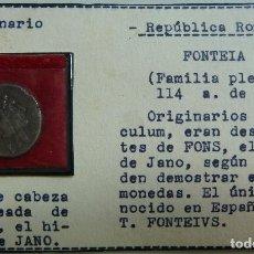 Monedas Roma República: DENARIO. FAMILIA FONTEIA 114 A.C.. Lote 115467875