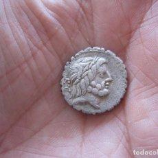 Monedas Roma República: ESCASO DENARIO REPUBLICANO, FAMILIA ANTOMIA, 83-82 A.C . SERRADO, CUADRIGA. Lote 120936579