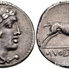 Monedas Roma República: DENARIO ROMANO REPÚBLICA VOLTEIA VOLTEI M VOLTEIUS M.F. CABEZA DE HÉRCULES / JABALÍ 76 AC. Lote 130778100
