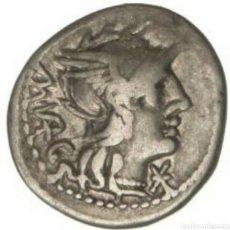 Monedas Roma República: DENARIO REPUBLICANO FAMILIA VARGUNTEIA 130 AC MBC 3,75 GR CERTIFICADO AUTENTICIDAD. Lote 133678478