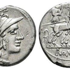 Monedas Roma República: ANÓNIMA. DENARIO. 143 A.C. ROMA. (FFC-82). (CRAW-222-1). (CAL-57).. Lote 121908183