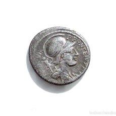 Monedas Roma República: DENARIO REPUBLICANO, FAMILIA FONTEIA - BUSTO DE MARTE, DETRAS LUCHANDO ENEMIGOS. 61 A.C. Lote 138780698