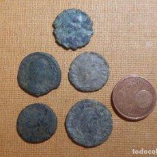 Monedas Roma República: LOTE DE 5 MONEDAS ANTIGUAS SIN LIMPIAR - HAY ROMANAS SI NDETERMINAR -. Lote 138908594