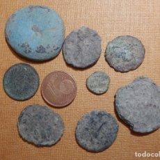 Monedas Roma República: LOTE DE 5 MONEDAS ANTIGUAS SIN LIMPIAR - DIFERENTES ÉPOCAS SIN DETERMINAR - HAY ROMANAS. Lote 43377614