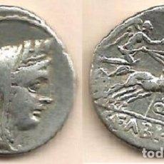 Monedas Roma República: FABIA - DENARIO REPUBLICANO - ROMA 104 A C.- MBC-. Lote 141941090