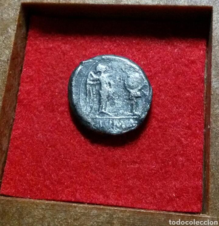 Monedas Roma República: Victoriato. 205-150 a.C. ANÓNIMO. Anv.: Cabeza de Júpiter laureada a derecha. plata - Foto 2 - 142825252