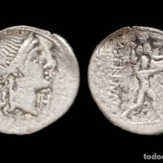 Monedas Roma República: DENARIO REPUBLICANO - FAMILIA HERENNIA (107 AC) - 18 MM / 3,33 GR.. Lote 143230574
