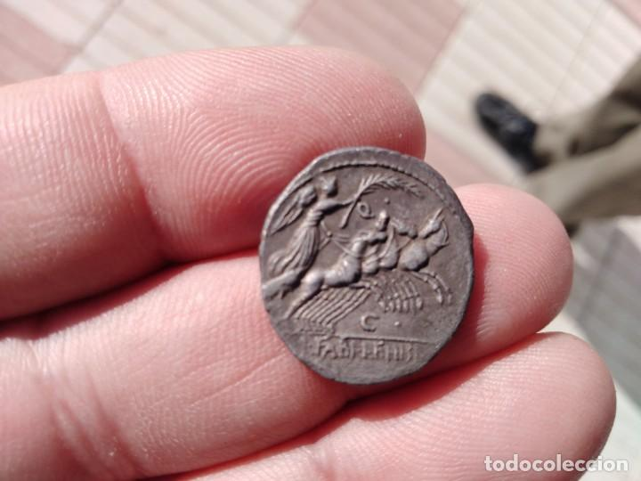 Monedas Roma República: Denario Romano de plata ANNIA : ANNIUS LUSCUS / LUCIUS FABIUS Ceca Hispania 3,8 grs - Foto 4 - 147398826